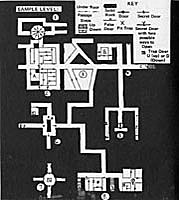 3.5) D&D's first sample dungeon. © 1974 Tactical Studies Rules.