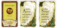 Cards from Once Upon a Time. (Atlas Games)