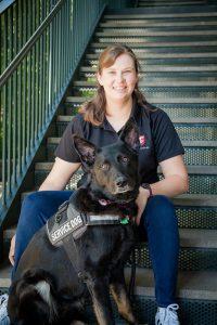 Photo of Katya Farinsky and Service Dog Lanie