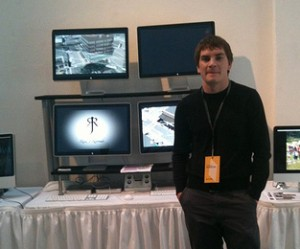 Aaron May at the IDMAa Student Showcase in Vancouver, CA