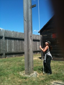 Dene Ringing the Fort's Bell