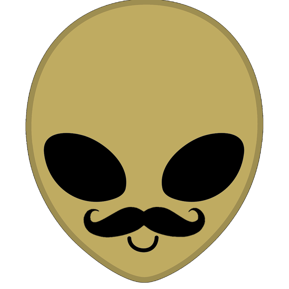 Martian with Moustache
